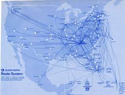 Carrier Route Maps by Eastern Airlines Airline Route Maps Pinterest Travel Posters