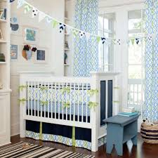 happy bright blue and green colors for baby boy u0027s nursery navy