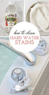 How To Uninstall A Kitchen Faucet How To Remove Those Stubborn Hard Water Stains One Good Thing By