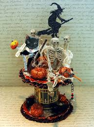 halloween accessories decorations spooky vintage halloween spool craft come with skull