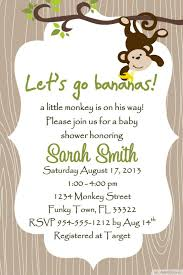 Invitation Cards For Baby Shower Templates Monkey Baby Shower Invitations Templates Free Theruntime Com