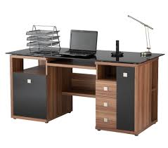 saratoga walnut effect executive computer desk desk ideas