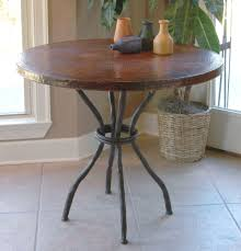 wrought iron woodland bistro table with 36in round top