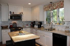white kitchen cabinets colors black stained wooden island set