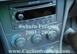 how to subaru forester car stereo radio removal 2003 2008 youtube