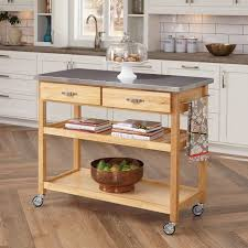 Kitchen Carts On Wheels by Trinity Ecostorage 48 In Nsf Stainless Steel Prep Table With