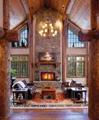Lodge Living Room Decor by Best 25 Cabin Fireplace Ideas Only On Pinterest Timber Homes