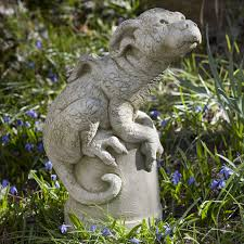 campania international puddles the baby dragon cast stone garden