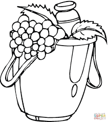 bag with vegetables coloring page free printable coloring pages