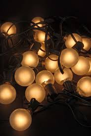 Beautiful Lighting Outdoor Patio String Lights G40 Frosted Globe 25 Ct 28 Ft