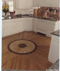 Hardwood In Kitchen by Legendary Hardwood Floors Carousel Medallion In Kitchen With Union Jack White Oak Field Terre Haute In 1999 Lr New Jpg
