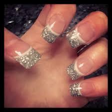 wedding nails silver glitter tips purple line 6 u20221 u202213