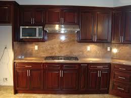Dark Kitchen Island Kitchen Backsplash Ideas With Cherry Cabinets - Kitchen backsplash ideas dark cherry cabinets