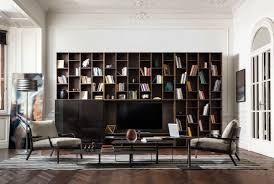 novecento wall system u0026 bookcase by natuzzi youtube