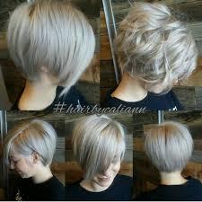 ooh love this ashy platinum grey longer pixie looks great