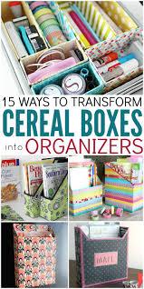 Small Desk Organization Ideas Best 25 Cereal Box Organizer Ideas On Pinterest Cereal Box