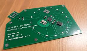Ham Radio Business Cards Templates My New Pcb Business Card Electronics