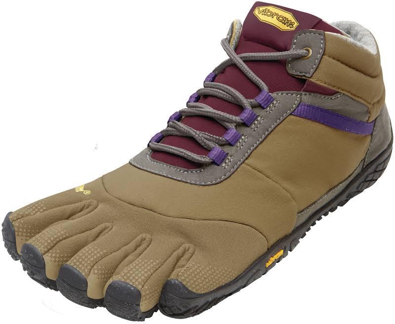 Vibram FiveFingers Trek Ascent Insulated Hiking Shoe -Khaki/Grape-Medium-40