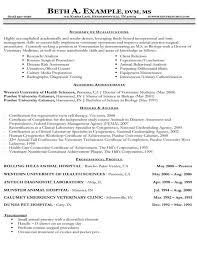 Veterinary CV
