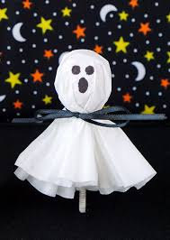 ghost writing book spirit halloween coffee filter ghost lollipops happiness is homemade