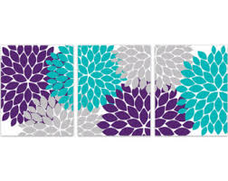 Teal And Purple Bedroom by Home Decor Wall Art Yellow And Gray Flower Burst Art Canvas