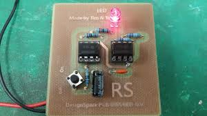 using designspark pcb and milling machine to create a l555 oscillator