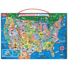 Unite States Map by Amazon Com T S Shure Wooden Magnetic Map Of The Usa Puzzle Toys