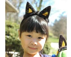 Halloween Costume Ears Gold Cat Ears Etsy
