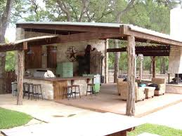 Design A Bar by A Rustic Covered Outdoor Kitchen In Dallas Goes Big With A Bar And