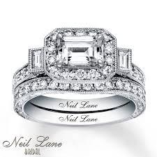 neil lane engagement rings jared neil lane bridal set 2 1 6 ct tw diamonds 14k white gold