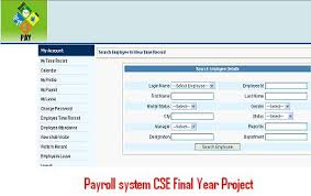 Payroll System CSE Final Year Project        Projects      Projects Payroll system CSE Final Year Project