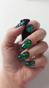 creative nail design shattered glass nails youtube
