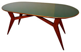 MidCentury Italian Table With Green Glass Midcentury Dining - Century dining room tables