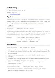 Student Resumes For First Job by 100 University Student Resume Template Ut College Of