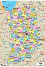 Us Circuit Court Map Map Of State Of Indiana With Its Cities Counties And Road Map