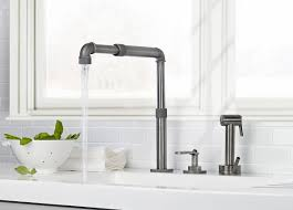 industrial kitchen faucet american kitchens design with satin