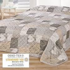chemin de lit en lin dessus de lits et couvre lits amazon fr