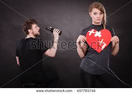 Unhappy Couple  Family And Alcoholism Problems  Addiction And     Shutterstock
