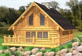 Log Cabin With Loft Floor Plans Russell Log Cabin Plans Log Home Plans Bc Canada Usa