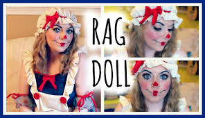 Halloween Doll Makeup Ideas by Rag Doll Makeup Tutorial U0026 Costume Youtube