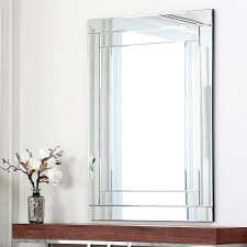 furniture extra large frameless wall mirror for bathroom