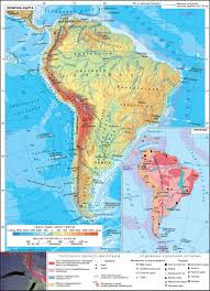 Physical Map Of South America by South America Physical Map Tectonics The Geography Of