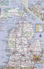 Us Map Michigan by Road Map Of Michigan State Michigan Map