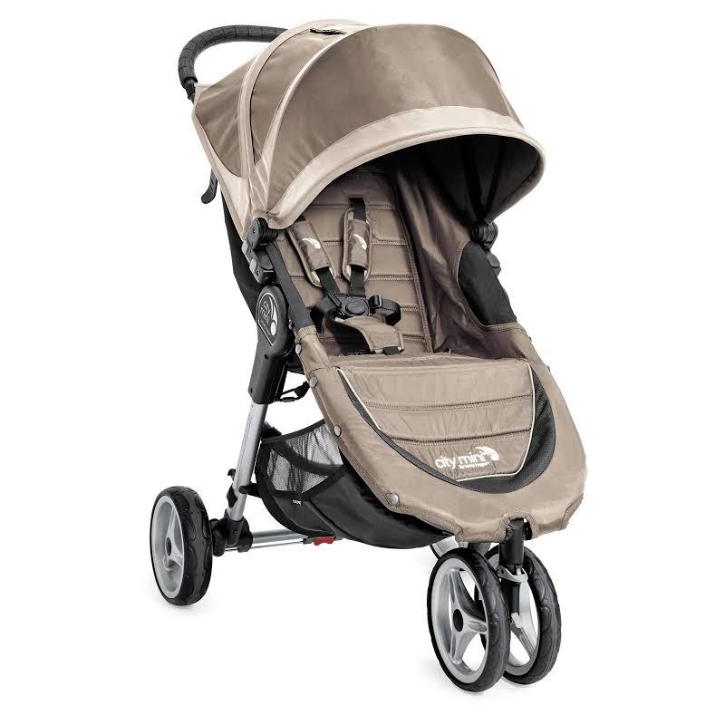 Baby Jogger City Mini Lightweight Folding Compact Travel Stroller, Sand/stone