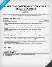 Research Analyst Sample Resume by Marketing Job Resume Sample Http Www Resumecareer Info