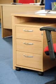 three drawer mobile pedestal with three shallow drawers which are