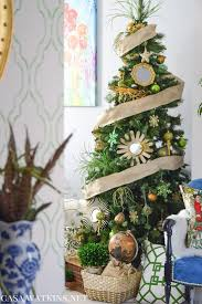 Complements Home Interiors My Home Style Green And Gold Global Eclectic Christmas Tree