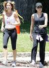 Eva Mendes shows how she keeps her figure as she goes for a run in
