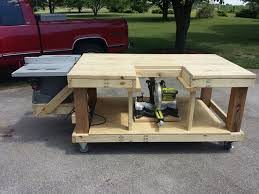 Basic Wood Bench Plans by Best 25 Mobile Workbench Ideas On Pinterest Workbench Ideas