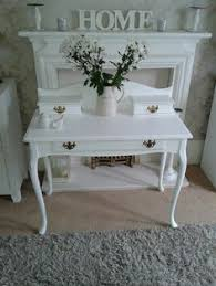 White Shabby Chic Dressing Table by Shabby Chic Dressing Table And Vintage Chair Withe Queen Anne Legs